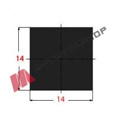 Μασίφ Τετράγωνο Μαύρο 14x14 6m (Φ14)