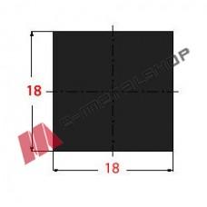 Μασίφ Τετράγωνο Μαύρο 18x18 6m (Φ18)