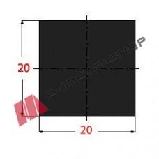 Μασίφ Τετράγωνο Μαύρο 20x20 6m (Φ20)