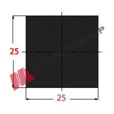Μασίφ Τετράγωνο Μαύρο 25x25 6m (Φ25)