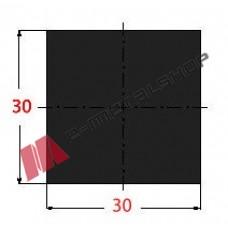 Μασίφ Τετράγωνο Μαύρο 30x30 6m