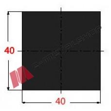 Μασίφ Τετράγωνο Μαύρο 40x40 6m