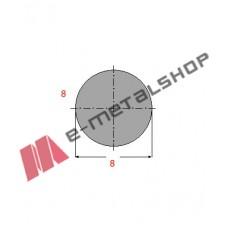 Μασίφ Στρογγυλό Γαλβανιζέ 8x8 6m (Φ8)