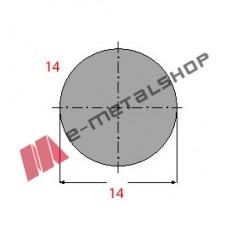 Μασίφ Στρογγυλό Γαλβανιζέ 14x14 6m (Φ14)
