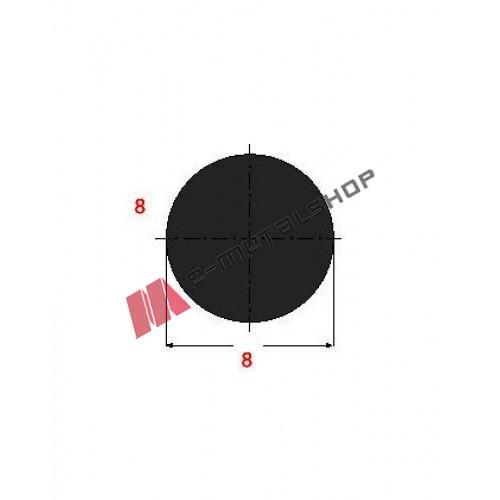 Μασίφ Στρογγυλό Μαύρο 8x8 6m (Φ8)