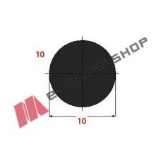 Μασίφ Στρογγυλό Μαύρο 10x10 6m (Φ10)