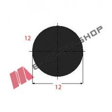 Μασίφ Στρογγυλό Μαύρο 12x12 6m (Φ12)