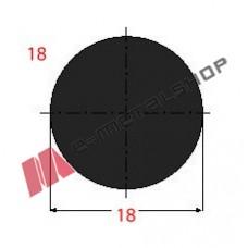 Μασίφ Στρογγυλό Μαύρο 18x18 6m (Φ18)