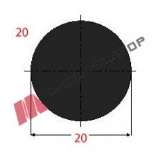Μασίφ Στρογγυλό Μαύρο 20x20 6m (Φ20)