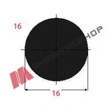 Μασίφ Στρογγυλό Μαύρο 16x16 6m (Φ16)
