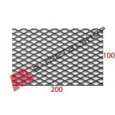 Λαμαρίνα Μαύρη κωδ.(MINI) Μέταλ Ντεπλουαγέ1000x2000x0.50mm Ρόμβος (τιμή/m2)