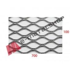 Λαμαρίνα Μαύρη κωδ.(B) Μέταλ Ντεπλουαγέ 1000x7000x1mm Εξάγωνο (τιμή/m2)
