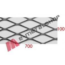 Λαμαρίνα Μαύρη κωδ.(Γ) Μέταλ Ντεπλουαγέ 1000x7000x1mm Εξάγωνο (τιμή/m2)