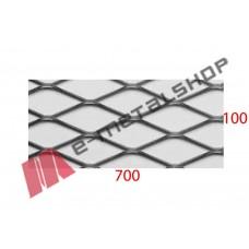 Λαμαρίνα αλουμίνιο κωδ.(Γ) Μέταλ Ντεπλουαγέ 1000x7000x1mm Εξάγωνο (τιμή/m2)