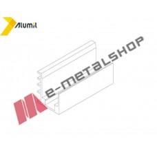 Εξάρτημα (U) για τζάμι μικρότερου πάχους Μ8200 8+8mm Alumil (3 ανά μέτρο)