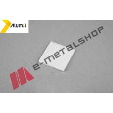 Βασική σφήνα γιαλιού M8200 5mm ΛΕΥΚΟ Alumil (3,33 ανά μέτρο)
