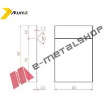 Πλαστικό τακάκι Μ8200 90x60x1,2 για τζάμι μονής μεμβράνης λευκό Alumil (3,33 ανά μέτρο)