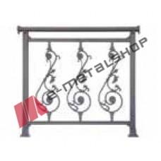 Παραδοσιακό κάγκελο Aluminco 85-30-E (τιμή μέτρου)