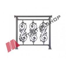 Παραδοσιακό κάγκελο Aluminco 85-31-E (τιμή μέτρου)