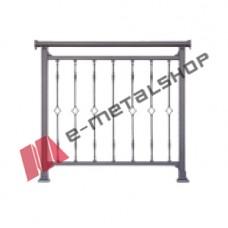 Παραδοσιακό κάγκελο Aluminco 85-44-E (τιμή μέτρου)