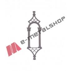 Παραδοσιακό Μοτίφ κάγκελο αλουμινίου (55-38 Καμάρα) Aluminco 55cm