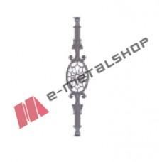 Παραδοσιακό Μοτίφ κάγκελο αλουμινίου (55-39 Ρόκα) Aluminco 55cm