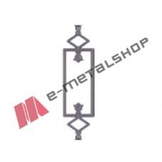 Παραδοσιακό Μοτίφ κάγκελο αλουμινίου (55-40 Κολωνάτο) Aluminco 55cm