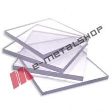 Μασίφ Πολυκαρβονικό 1.25m x 2.50m φύλλο Policam Alfa Glass σε Διάφανο (clear) χρώμα 1mm με 10 χρόνια εγγύηση (τιμή φύλλου)