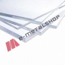 Ακρυλικό φύλλο 2,05m x 3,05m φύλλο Plexiglass Policam σε Διάφανο (clear) χρώμα 2mm με 10 χρόνια εγγύηση (τιμή φύλλου)