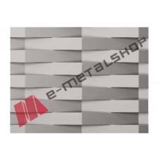 Λαμαρίνα διακοσμητική Ντεπλουαγέ (WAVE) WV100 Aluminco 2mm(τιμή ανά τεμάχιο)