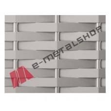 Λαμαρίνα διακοσμητική Ντεπλουαγέ (WAVE) WV101 Aluminco 2mm(τιμή ανά τεμάχιο)