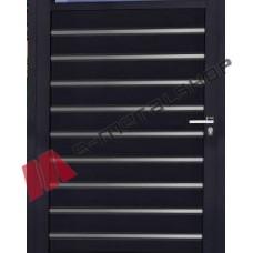 Μονόφυλλη ανοιγόμενη αυλόπορτα Elegance Stylegates E483 100x100