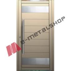 Μονόφυλλη ανοιγόμενη αυλόπορτα Elegance Stylegates E675 100x100