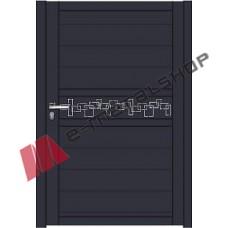 Μονόφυλλη ανοιγόμενη αυλόπορτα Classic Stylegates C100 100x100