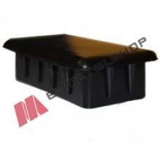 Πλαστική παραλληλόγραμμη τάπα για σωλήνες και κοιλοδοκούς 80x20mm