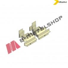 Τάπα μπινί  για προφίλ περιμετρικού M19680 της σειράς Μ9660 Alumil 3001968103