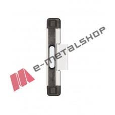 Πρόσθετη ασφάλεια συρόμενων για μονόφυλλο, λευκή με μαύρα καπάκια 6461L Domus
