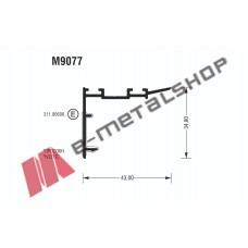 Γάντζος M9077 σειράς Μ9050 Comfort Alumil