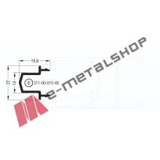 Μπινί Μ9004 σειράς Μ9050 Comfort Alumil 6m