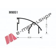 Γάντζος M9051 σειράς Μ9050 Comfort Alumil