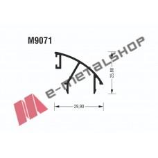 Γάντζος M9071 σειράς Μ9050 Comfort Alumil