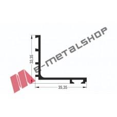 Αρμοκάλυπτρο M9048 σειράς Μ9050 Comfort Alumil