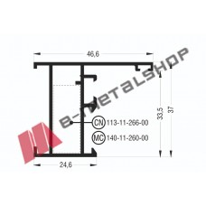 Κάσα M977 σειράς Μ940 Comfort Alumil