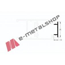 Καπάκι-σκαλιέρα για μονό τζάμι M9010 σειράς Μ9050 Comfort Alumil