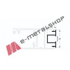 Πρόσθετο-σκαλιέρα για μονό τζάμι M9340 σειράς Μ9050 Comfort Alumil