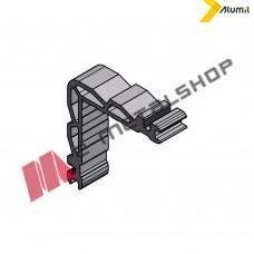 Γωνία σύνδεσης γωνιάστρας με διπλό χτύπημα 11x18.7 mm Alumil 1131118700