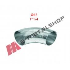 Καμπύλη οξυγόνου γαλβανιζέ Φ42 (1''/1/4)