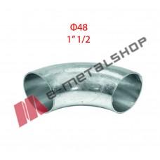 Καμπύλη οξυγόνου γαλβανιζέ Φ48 (1''/1/2)