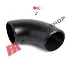 Καμπύλη οξυγόνου μαύρη Φ60 (2'')