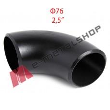 Καμπύλη οξυγόνου μαύρη Φ76 (2.5'')
